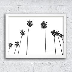 Poster Palm Trees Black & White - comprar online