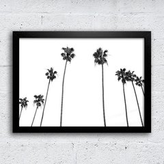 Poster Palm Trees Black & White
