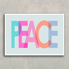 Poster Peace Colors - loja online