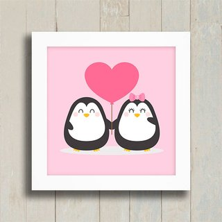 Quadro Pinguins na internet