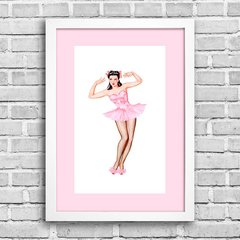 Poster Pin-up Bailarina na internet