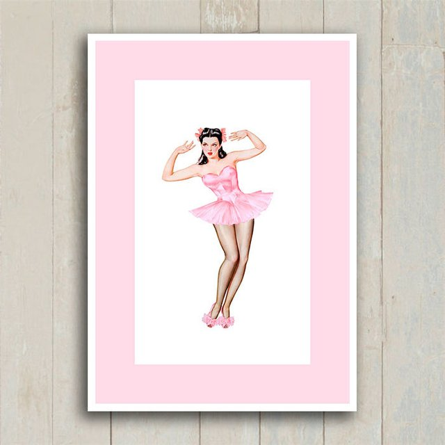 Poster Pin-up Bailarina