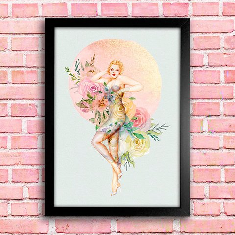 Poster Pin-up Flowers - comprar online