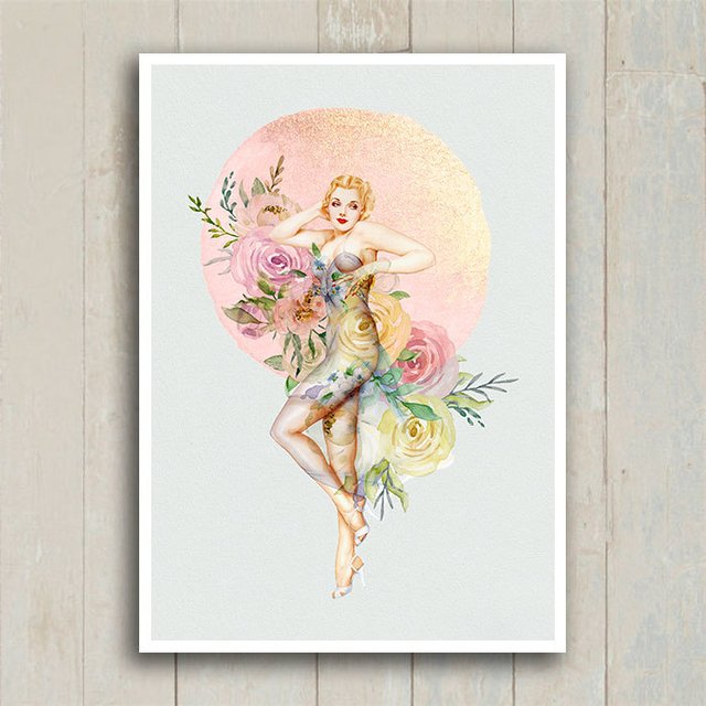 Poster Pin-up Flowers