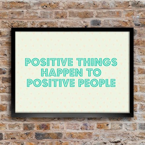 Poster Positive Things