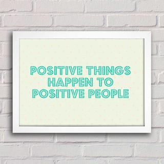 Poster Positive Things na internet