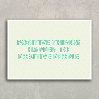 Poster Positive Things - Encadreé Posters