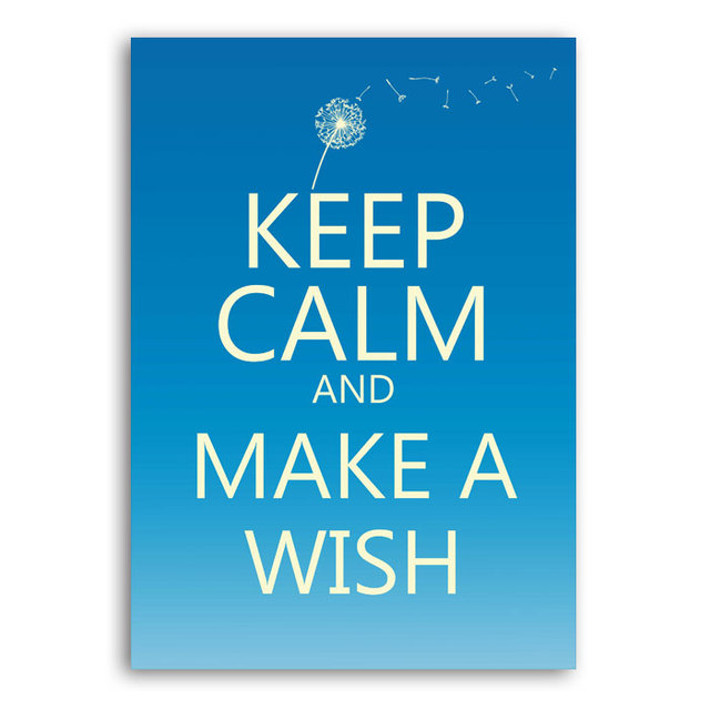 Poster Keep Calm and Make a Wish - loja online