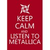 Poster Keep Calm and Listen to Metallica - loja online