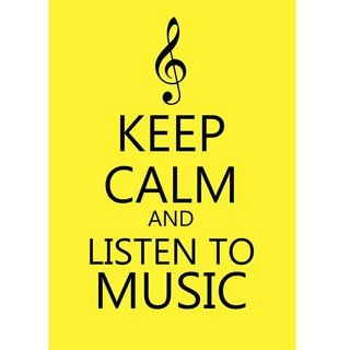 Poster Keep Calm and Listen to Music - loja online