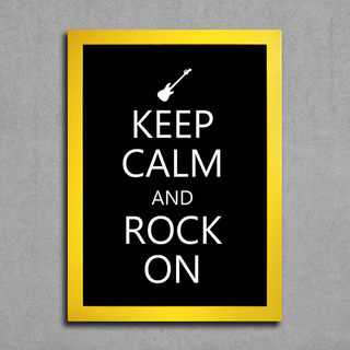 Poster Keep Calm and Rock On - Encadreé Posters