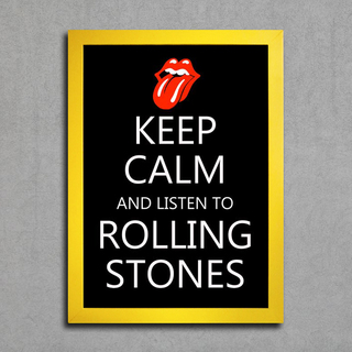 Poster Keep Calm and Listen to Rolling Stones - Encadreé Posters
