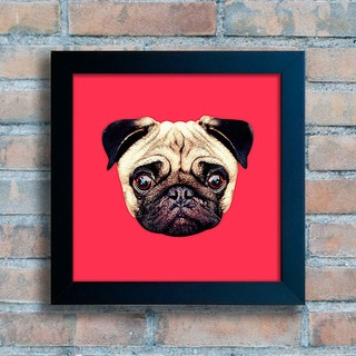 Quadro Pug Colors - Red na internet