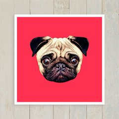 Quadro Pug Colors - Red