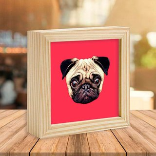Quadro Box Pug Red - Encadreé Posters