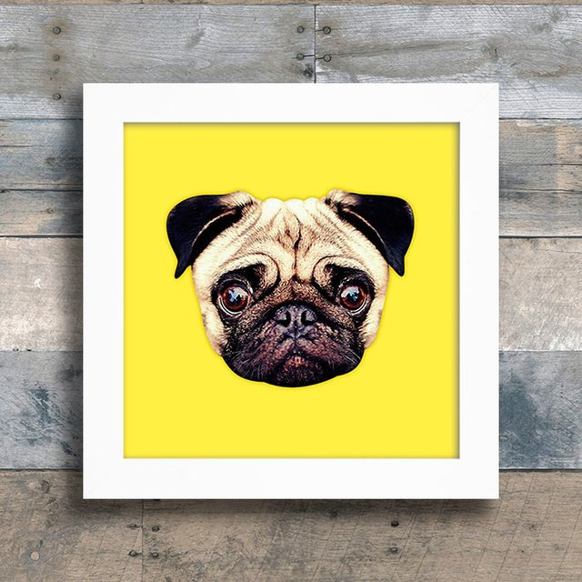 Quadro Pug Colors - Yellow - comprar online