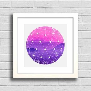 Quadro Purple and Pink Mountains na internet