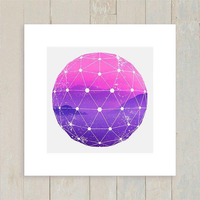 Posters e quadros com roxo filtrado por produtos em destaque quadro purple and pink mountains junglespirit Gallery