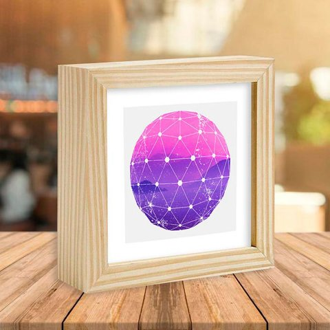 Quadro Box Purple and Pink Mountains - comprar online