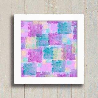 Quadro Purple Squares na internet