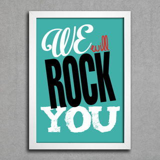 Poster Queen - We Will Rock You na internet