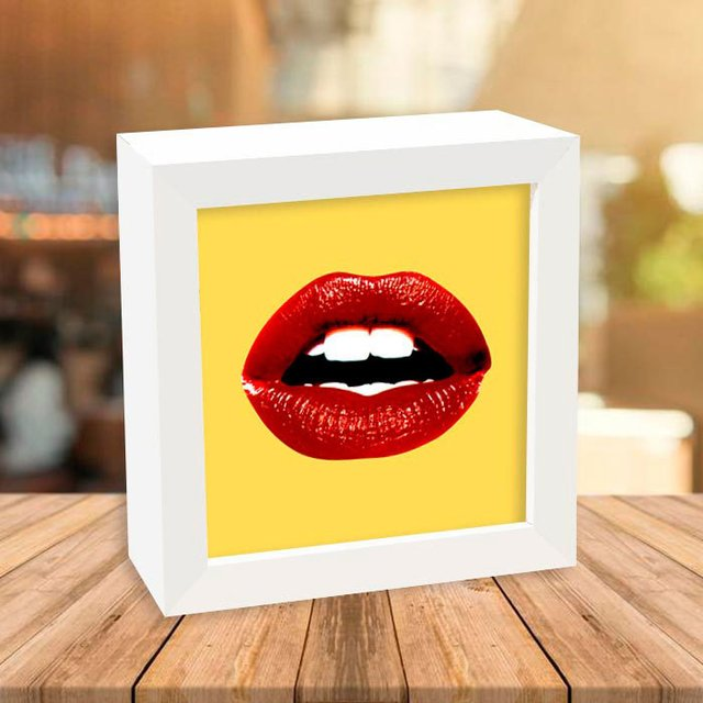 Quadro Box Red Lips na internet