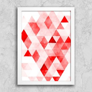 Poster Red Triangles na internet