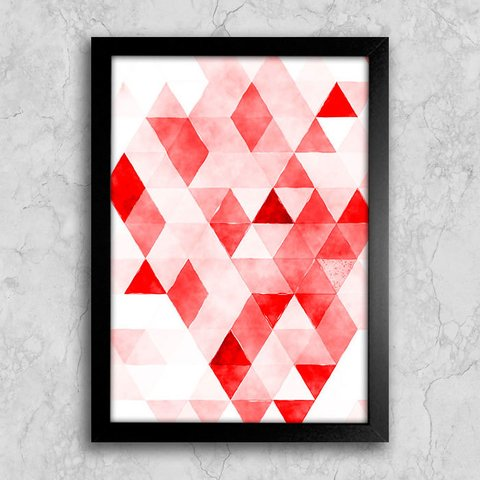 Poster Red Triangles - comprar online