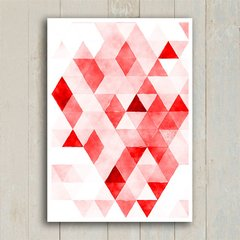Poster Red Triangles - Encadreé Posters