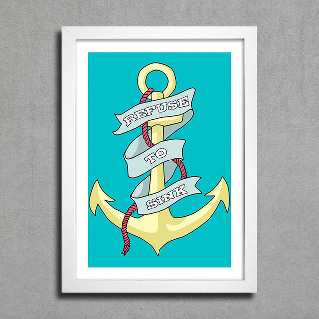 Poster Refuse to Sink - Encadreé Posters