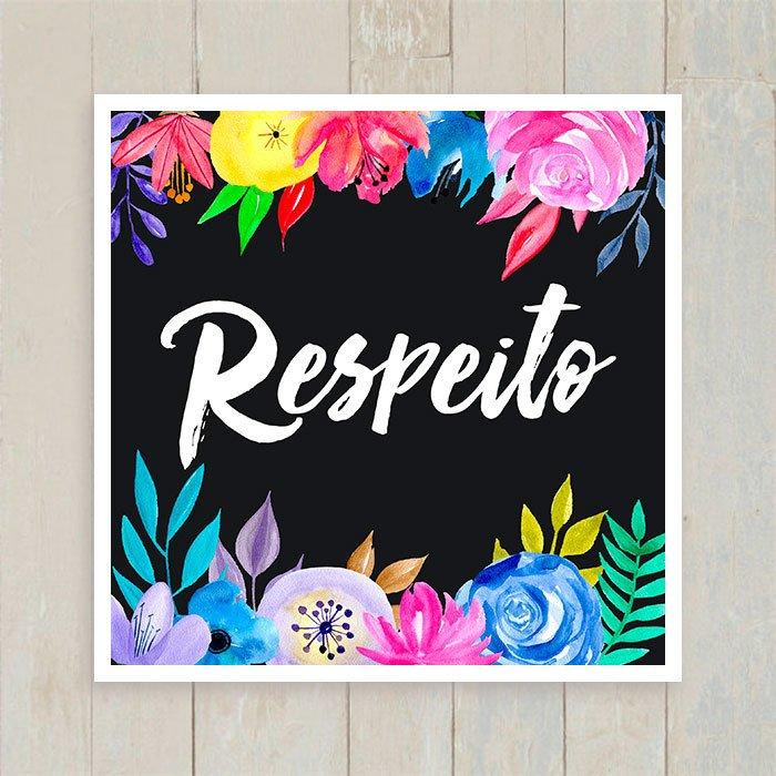 Quadro Respeito - Encadreé Posters