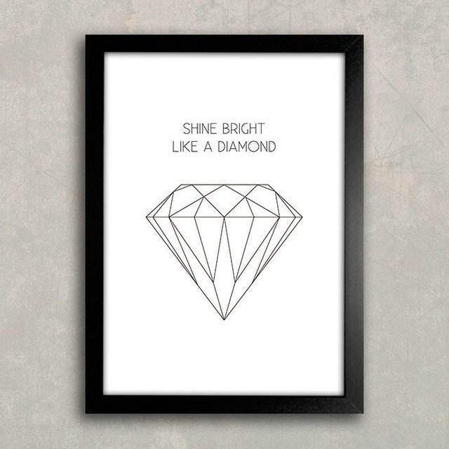 Poster Shine Bright Like a Diamond - comprar online
