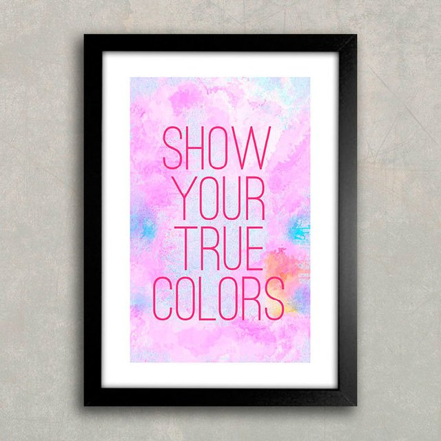 Poster Show your true colors - comprar online