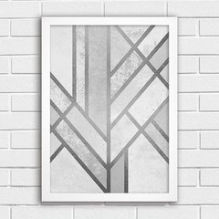 Poster Silver Abstract Art - comprar online
