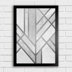 Poster Silver Abstract Art