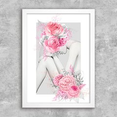 Poster Silver and Pink Flower Girl - comprar online