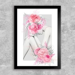 Poster Silver and Pink Flower Girl