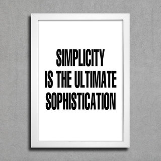 Poster Simplicity  is the Ultimate Sophistication na internet