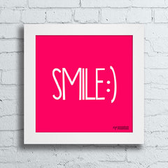 Quadro Decorativo Smile - Moldura Branca