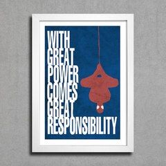 Poster Cinema - Homem Aranha - With Great Power Comes Great Responsibility