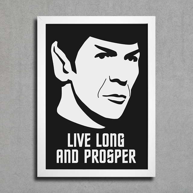 poster cinema star treck live long and prosper