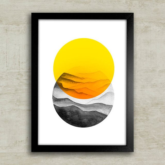 Poster Sun & Mountains - comprar online