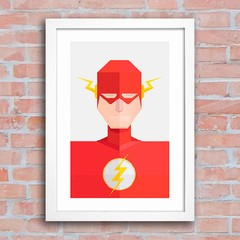 Poster Super Heróis - Flash na internet