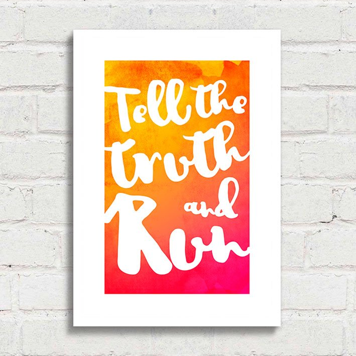 Poster Tell The Truth and Run