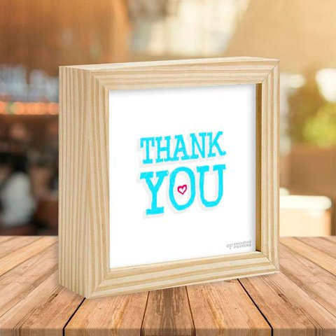 Quadro Box Thank You - comprar online