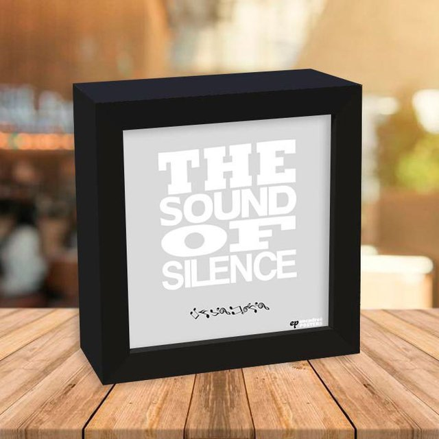 Quadro Box The sound of silence - comprar online