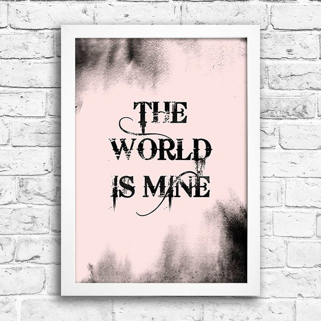 Poster The world is mine - comprar online