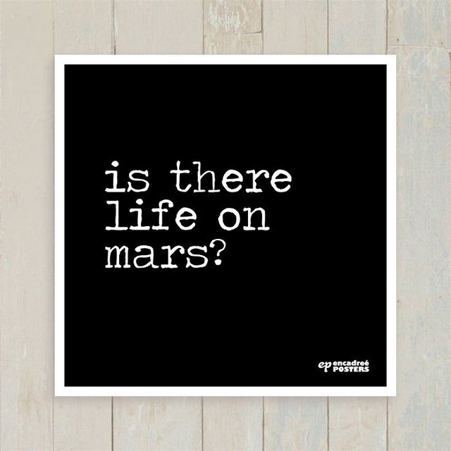 Quadro Is There Life on Mars? na internet