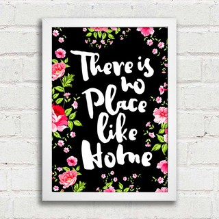 poster there is no place like home encadre posters. Black Bedroom Furniture Sets. Home Design Ideas