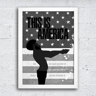 Poster This is America na internet